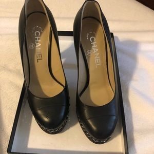 Authentic Chanel CC Chain heels